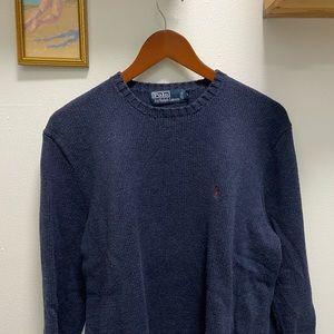 Polo Ralph Lauren 100% Cotton Dark Blue Sweater